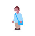 african american boy backpack school children vector image vector image