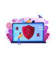 antivirus software concept vector image