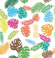 background tropical leaves and pineapple vector image vector image