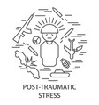 banners for ptsd vector image vector image