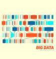 big data colorful visualization vector image vector image