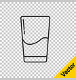 black line glass with water icon isolated on vector image vector image