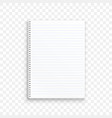blank realistic spiral notepad notebook vector image
