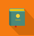 book encyclopedia icon flat style vector image