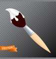 brush with a liquid white paint on tip 3d vector image vector image