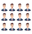 businessman emotions male characters with various vector image vector image