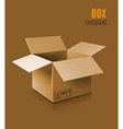 Cardboard box icon vector image vector image
