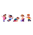 children playing at playground together funny kids vector image