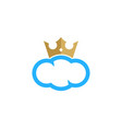 cloud king logo icon design vector image vector image