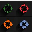 Color arrow reload refresh rotation repeat icon vector image
