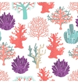 Corals seamless pattern vector image