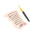 Declaration of Independence cartoon icon vector image