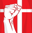 Denmark fist vector image vector image
