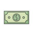 dollar rgb color icon vector image