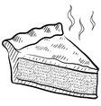 doodle pie slice vector image vector image