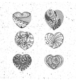 Doodle Valentines Day Hearts Collection vector image vector image
