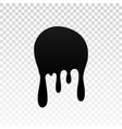 drip paint ink stain drop melt liquid isolated vector image vector image