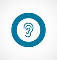 ear bold blue border circle icon vector image vector image