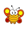Fat butterfly cartoon vector image