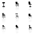 Furniture icons - chairs vector image vector image