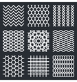 geometric textures vector image vector image