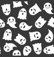 ghost halloween seamless pattern flat design with vector image