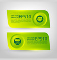 green infographic horizontal banners vector image vector image