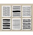 hand drawn patterns greeting cards set vector image vector image