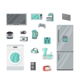 Home Appliances Set in Flat Design vector image vector image