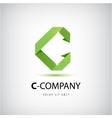 Letter C logo Alphabet logotype design vector image