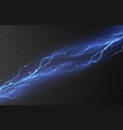 lightning on a transparent vector image vector image