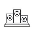 line olympic pedestal winner award icon vector image