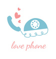 Love phone design template vector image vector image