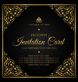 luxury invitation card template vector image vector image