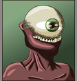 mandible monster without face with jaws vector image vector image