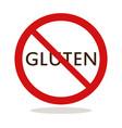 no gluten vector image vector image