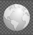 origami white paper world globe isolated on vector image vector image