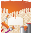 paint on wallpaper background vector image vector image