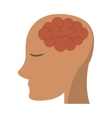 person head brain think vector image vector image
