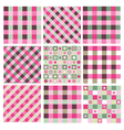 pink green patterns vector image vector image