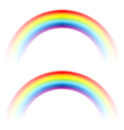 rainbow arc white vector image vector image