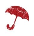 Red grunge umbrella logo vector image