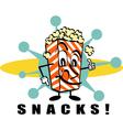 Retro Popcorn snacks vector image vector image