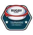 rugby league tournament label design vector image vector image
