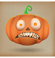 Scary pumpkin vintage background vector image vector image