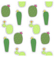 seamless pattern mexican cactus flower cactus vector image