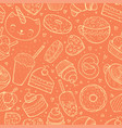 seamless pattern sweets doodle sketch vector image