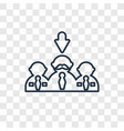 selection process concept linear icon isolated on vector image