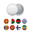 set of badges with country flags vector image