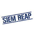 Siem Reap blue square stamp vector image vector image